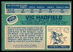 1976 O-Pee-Chee NHL #226  Vic Hadfield  Back Thumbnail