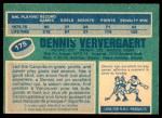 1976 O-Pee-Chee NHL #175  Dennis Ververgaert  Back Thumbnail