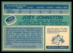 1976 O-Pee-Chee NHL #325  Joey Johnston  Back Thumbnail
