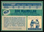 1976 O-Pee-Chee NHL #38  Bob MacMillan  Back Thumbnail