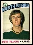 1976 O-Pee-Chee NHL #103  Dean Talafous  Front Thumbnail