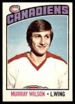 1976 O-Pee-Chee NHL #254  Murray Wilson  Front Thumbnail