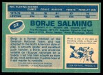 1976 O-Pee-Chee NHL #22  Borje Salming  Back Thumbnail