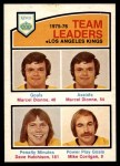 1976 O-Pee-Chee NHL #386   -  Marcel Dionne / Dave Hutchison / Mike Corrigan Kings Leaders Front Thumbnail