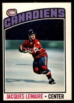 1976 O-Pee-Chee NHL #129  Jacques Lemaire  Front Thumbnail