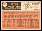 1966 Topps #327  Bernie Allen  Back Thumbnail
