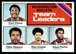 1975 Topps #133   -  Elvin Hayes / Clem Haskins / Wes Unseld / Kevin Porter Bullets Leaders Front Thumbnail