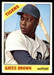 1966 Topps #362  Gates Brown  Front Thumbnail