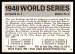 1971 Fleer World Series #46   1948 Indians / Braves Back Thumbnail