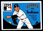 1971 Fleer World Series #52   1954 Giants / Indians Front Thumbnail
