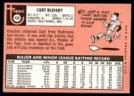 1969 Topps #458  Curt Blefary  Back Thumbnail