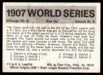 1971 Fleer World Series #5   1907 Cubs / Tigers Back Thumbnail