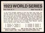 1971 Fleer World Series #21   1923 Yankees / Giants Back Thumbnail