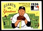 1971 Fleer World Series #34   1936 Yankees / Giants  Front Thumbnail
