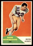 1960 Fleer #97  Don Norwood  Front Thumbnail
