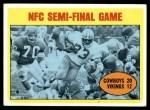 1972 Topps #134  Duane Thomas / Jim Marshall NFC Semi-Final Game Front Thumbnail