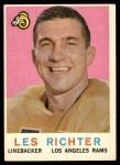 1959 Topps #84  Les Richter  Front Thumbnail
