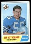 1968 Topps #207  Lee Roy Jordan  Front Thumbnail