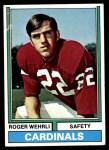 1974 Topps #421  Roger Wehrli  Front Thumbnail