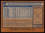 1978 Topps #104  Lee Lacy  Back Thumbnail