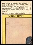 1966 Topps Rat Patrol #16   Sam Looked at His Men Back Thumbnail