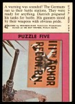 1966 Topps Rat Patrol #42   Warning Was Sounded! Back Thumbnail