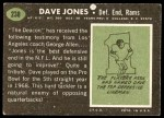 1969 Topps #238  Deacon  Jones  Back Thumbnail