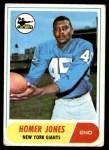 1968 Topps #31  Homer Jones  Front Thumbnail