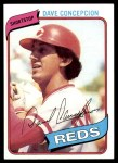 1980 Topps #220  Dave Concepcion  Front Thumbnail