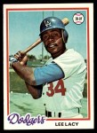 1978 Topps #104  Lee Lacy  Front Thumbnail