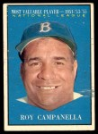1961 Topps #480   -  Roy Campanella Most Valuable Player Front Thumbnail