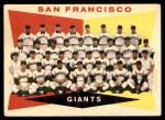 1960 Topps #151   Giants Team Checklist Front Thumbnail