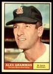 1961 Topps #64  Alex Grammas  Front Thumbnail