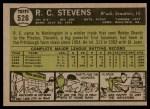 1961 Topps #526  R.C. Stevens  Back Thumbnail