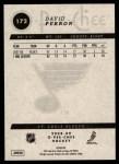 2008 O-Pee-Chee #172  David Perron  Back Thumbnail