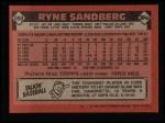 1986 Topps #690  Ryne Sandberg  Back Thumbnail