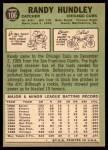 1967 Topps #106  Randy Hundley  Back Thumbnail