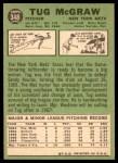 1967 Topps #348  Tug McGraw  Back Thumbnail