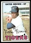 1967 Topps #134  Gates Brown  Front Thumbnail