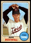 1968 Topps #322  Dave Boswell  Front Thumbnail