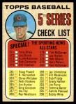 1968 Topps #356 CEN  -  Ken Holtzman Checklist 5 Front Thumbnail