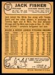 1968 Topps #444  Jack Fisher  Back Thumbnail