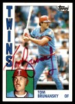 1984 Topps #447  Tom Brunansky  Front Thumbnail