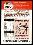 1953 Topps Archives #209  Jim Greengrass  Back Thumbnail