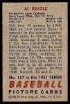 1951 Bowman #157  Al Brazle  Back Thumbnail
