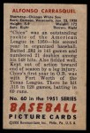 1951 Bowman #60  Chico Carrasquel  Back Thumbnail