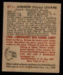 1948 Bowman #21  Andrew Levane  Back Thumbnail