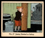 1931 Johnson Candy Dick Tracy R41 #27   Junior Dashed to Safety Front Thumbnail