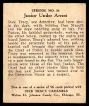 1931 Johnson Candy Dick Tracy R41 #20   Suspected of Shooting Tracy Back Thumbnail