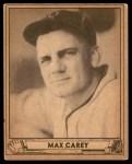 1940 Play Ball #178  Max Carey  Front Thumbnail